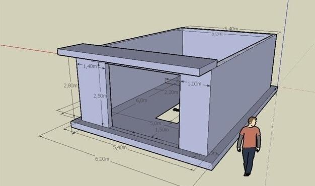 Как построить гараж своими руками из пеноблоков видео