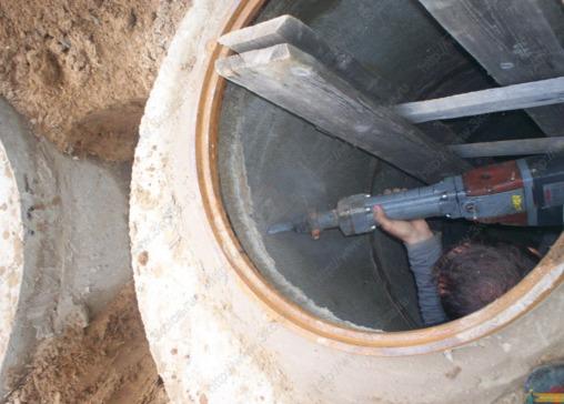 Как сделать дырку в бетоне для трубы