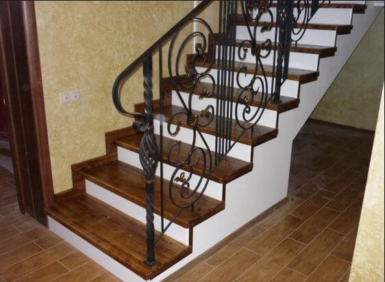 Отделка ступеней бетонной лестницы