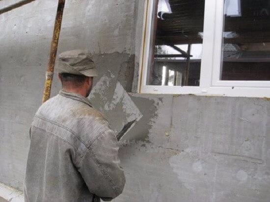 Штукатурка по бетону для наружных работ: виды и технология отделки