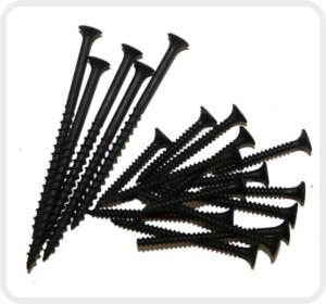 Черные шурупы используют для работ внутри помещения.