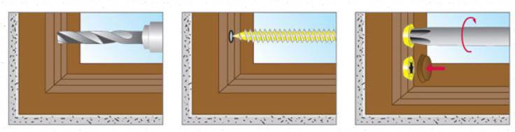 С помощью шурупов можно осуществить крепление деревянных конструкций к бетону.