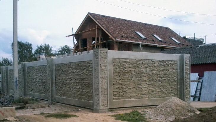 Забор декоративный бетон статуэтки из бетона