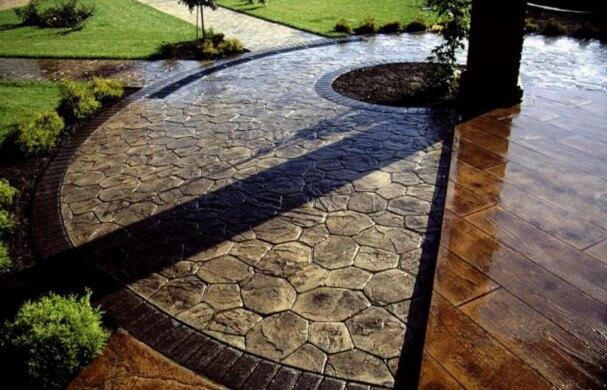 Декоративно печатный бетон ткань цементный раствор