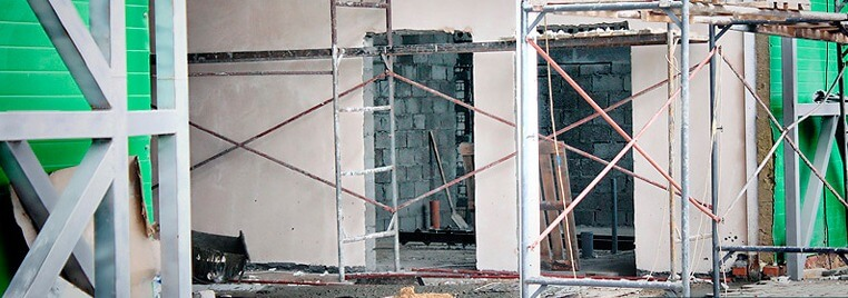 Штукатурка стен из керамзитобетонных блоков