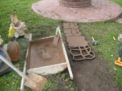Заливка тропинок бетоном микронаполнитель в бетон