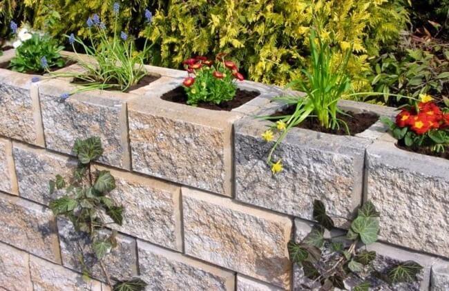 Цветники из бетона 1 куб цементный раствор