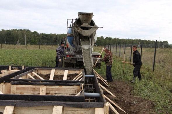 Бетон заливают производство бетона линии
