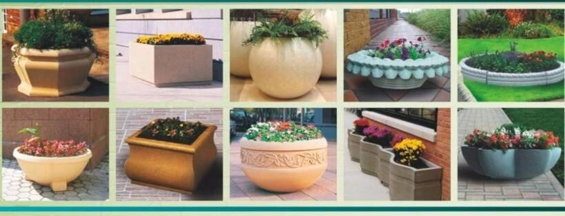 Цветники и клумбы из бетона купить бетон в рощино купить