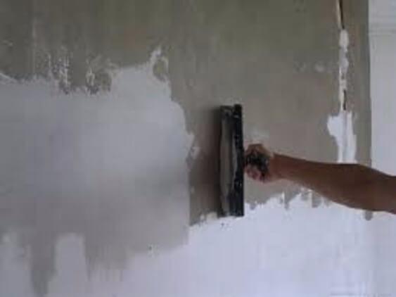 шпатлевание бетона