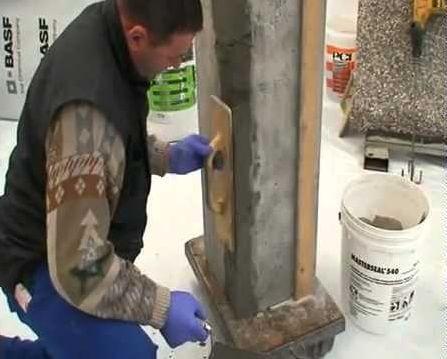 Ремонт бетонных поверхностей смесями эмако плотность бетона марки