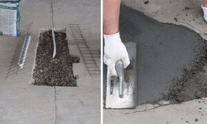Как залить трещины в бетонном полу