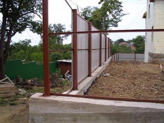 Забор профлист бетон купить бетон видное с доставкой