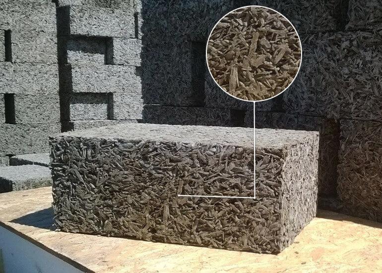щепки бетон