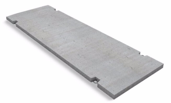 Дорожная плита из фибробетона бетон лофт светлый